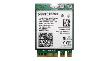 killer 1650x wifi 6 card