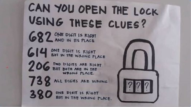 Can you open the lock using these clues?