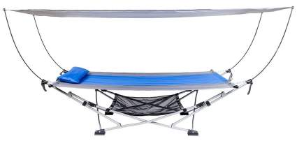 Mac Sports Portable Fold Up Hammock With Removable Canopy