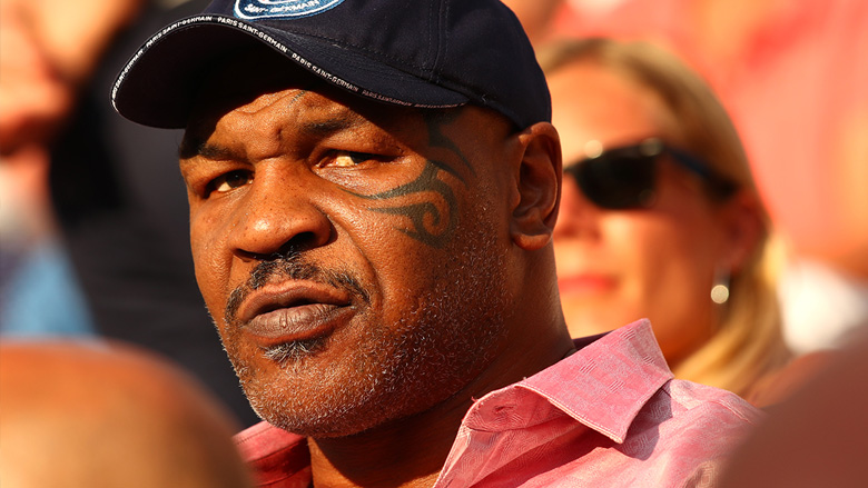 Mike Tyson at 2018 French Open