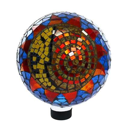 mosaic glass gazing ball