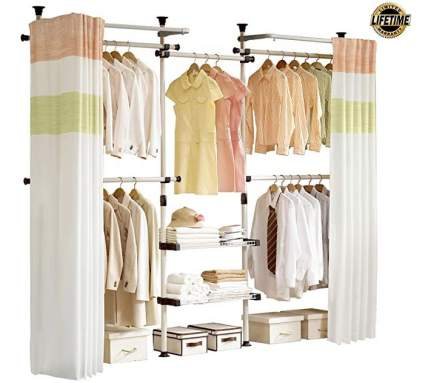 Prince Hanger Closet Organizer with Curtain