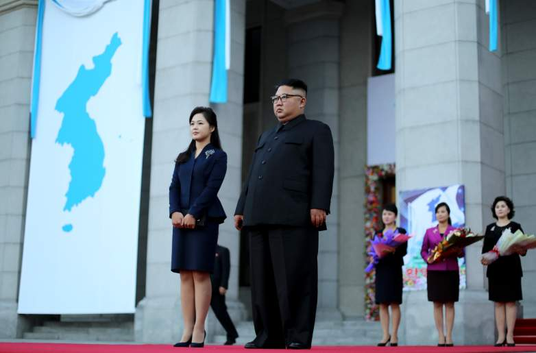 Kim Jong Un and his wife Ri Sol Ju
