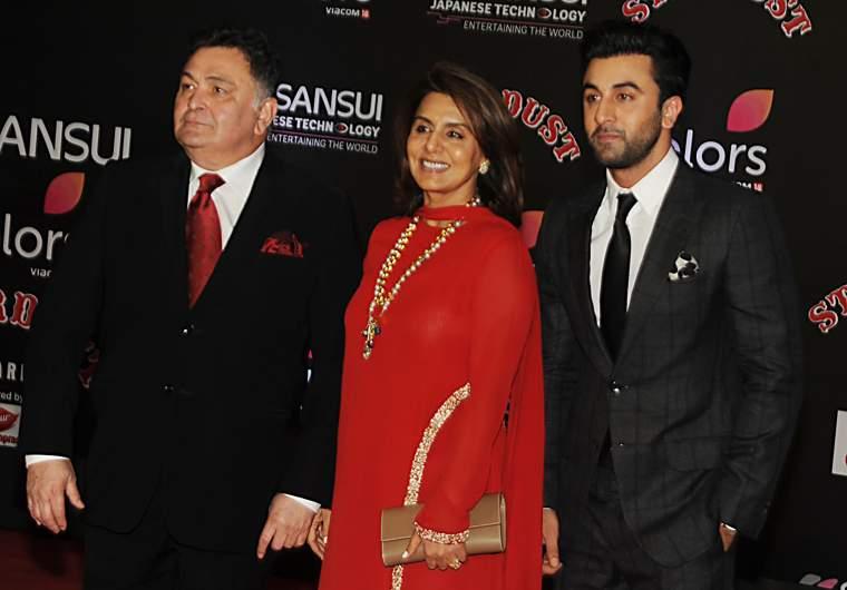 Rishi Kapoor, wife Neetu and son Ranbir