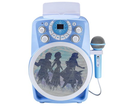 Frozen 2 Bluetooth CDG Karaoke Machine with LED Disco Party