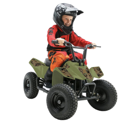 Pulse Performance Childrens Electric 4 Wheeler ATV - Camo