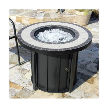 tile top gas fire pit