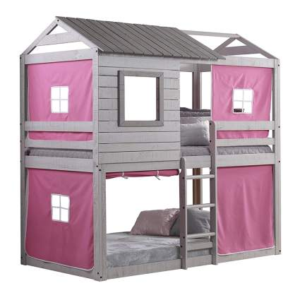 twin bunk beds with tents