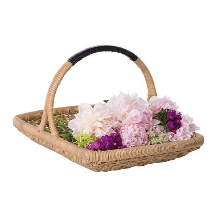 wicker harvest basket