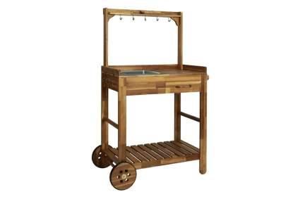 acacia wood potting table