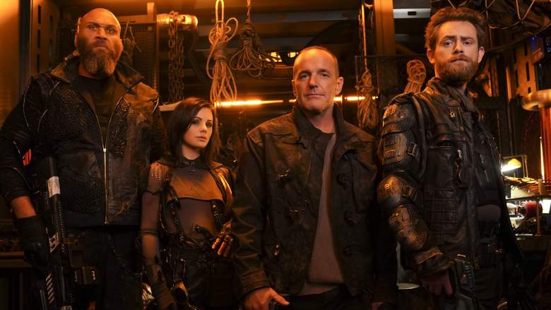 "ABC's ""Marvel's Agents of S.H.I.E.L.D."" stars Winston James Francis as Jaco, Brooke Williams as Snowlfake, Clark Gregg as Sarge, and Matt O'leary as Pax."