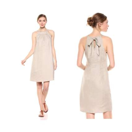 Khaki halter dress