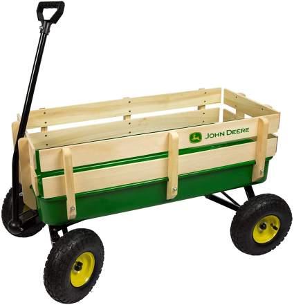 John Deere Steel Stake Wagon Toy, Green
