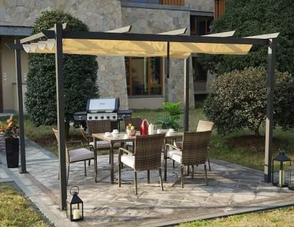 Kozyard Morgan Outdoor 10'x13' Extra Large Pergola With Canopy