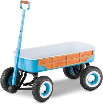 Schwinn 4x4 Quad Steer Woody Wagon Vehicle, Teal