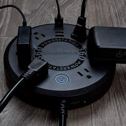 ChargeHub Powerstation 360 10-device Surge Protector Power Strip