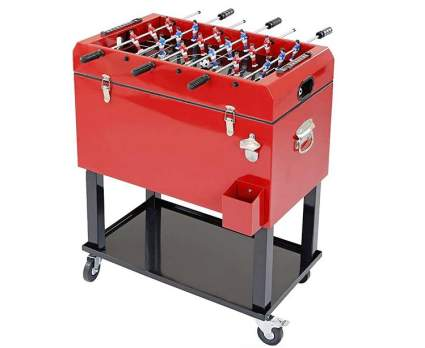 Clevr Ice Chest and Foosball Table Top
