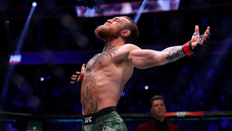 Conor McGregor inside the UFC Octagon
