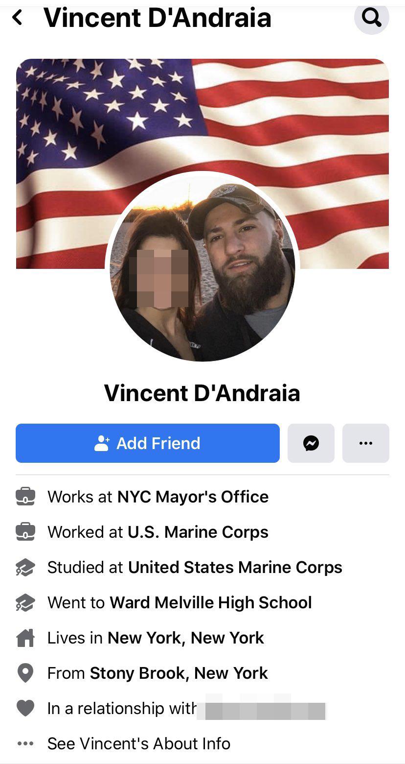 Vincent D'Andraia Facebook