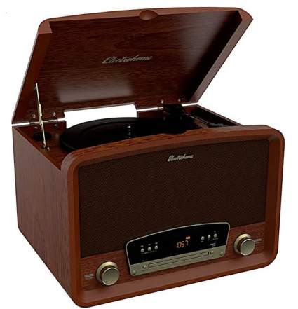 Electrohome Kingston 7-in-1 Vintage Vinyl Record Player Stereo System