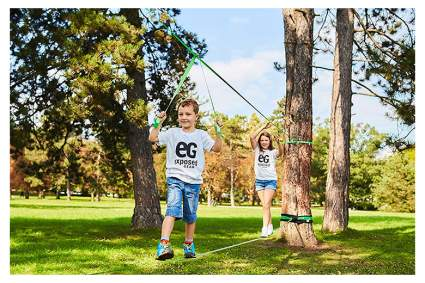 slackline kit with arm trainer