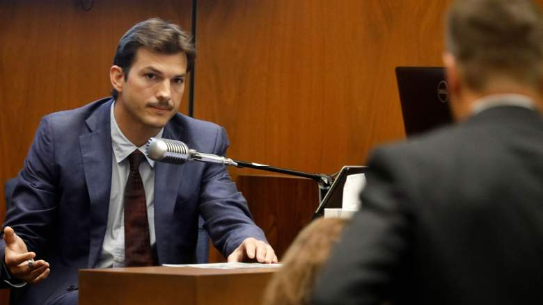 Actor Ashton Kutcher testifies in court in Los Angeles on May 29, 2019, during the trial of People v Michael Thomas Gargiulo, also known as 'The Hollywood Ripper.'