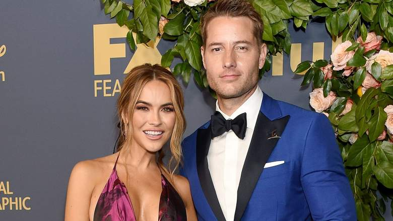Chrishell Stause and Justin Hartley at Disney's 2019 Emmys Party