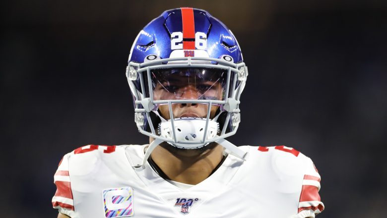 Saquon Barkley shares image of him in New York Giants throwback uniforms