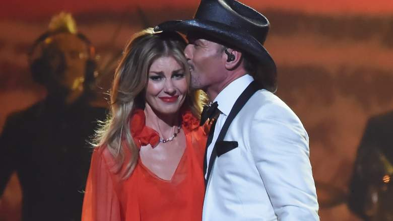 Faith Hill and Tim McGraw perform onstage at the 51st annual CMA Awards.