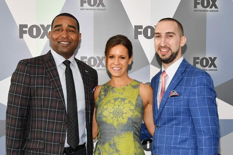 Cris Carter, Jenna Wolfe, and Nick Wright