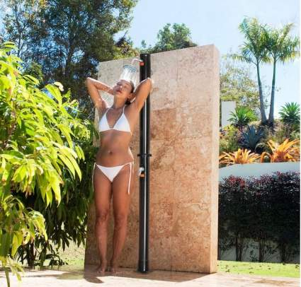 Giantex Outdoor Heated Shower with Shower Head