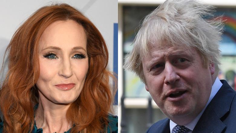 JK Rowling and Boris Johnson