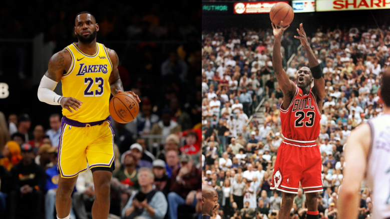 LeBron James, Lakers, and Michael Jordan, Bulls