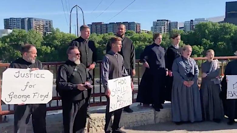 Mennnonite protestors Minneapolis