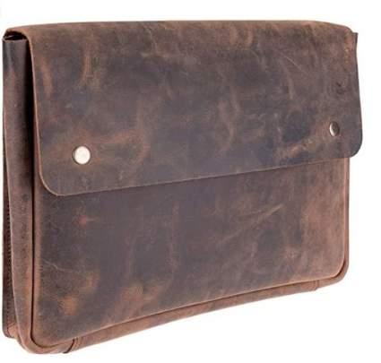 Moonster Genuine Leather Portfolio Folde/Laptop Bag