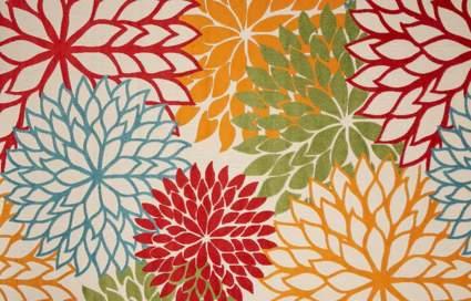 Nourison Aloha Indoor/Outdoor Floral Multicolor Area Rug