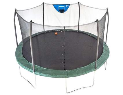 Skywalker Trampolines Jump N Dunk Trampoline with Enclosure Net and Goal