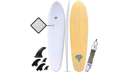 South Bay Board Co. - Hybrid Surfboards - Wax-Free Soft Top + Fiberglassed Bottom Deck Surfboard