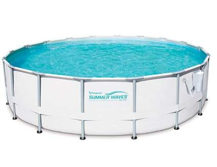 "Summer Waves 16' x 48"" Metal Frame Above Ground Pool Set with Filter Pump"