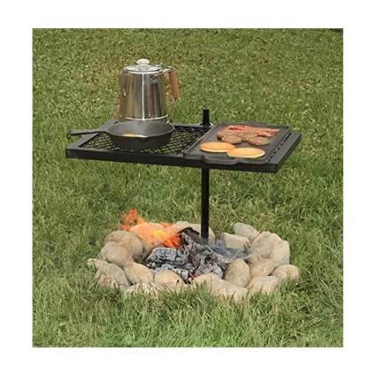 swiveling fire pit grill