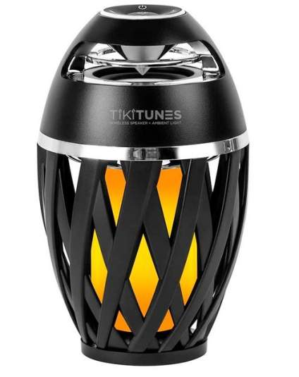 TikiTunes Portable Bluetooth Wireless Speaker with LED Torch Lighting Effect