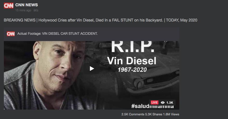 Vin Diesel Not Dead