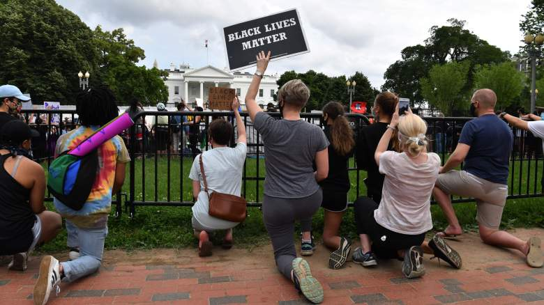 protests DC white house lock dwon