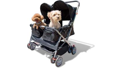 double pet strollers