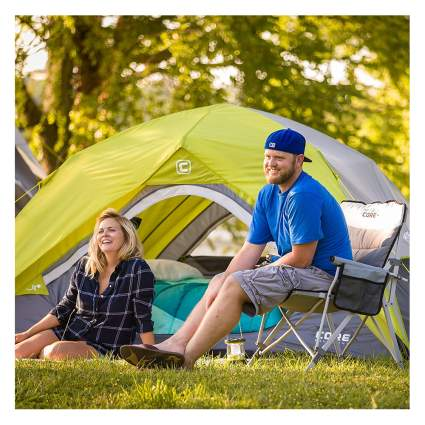 padded folding camping chair