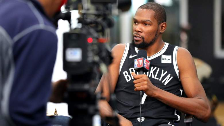 Rare sight: Kevin Durant in a Nets uniform