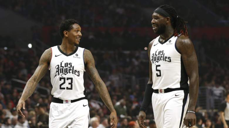 Montrezl Harrell, at right, of the Clippers, with Lou Williams