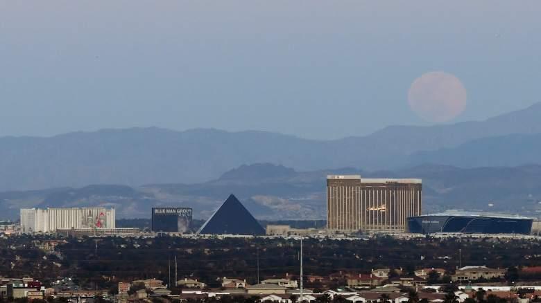 Las Vegas skyline, including Mandalay Bay