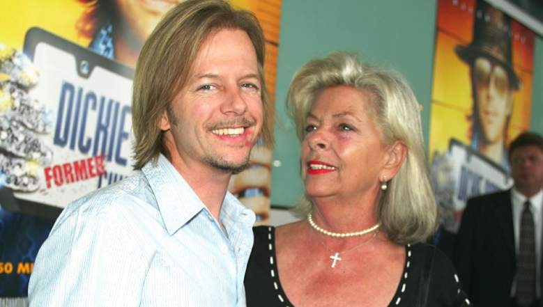 David Spade and his mother