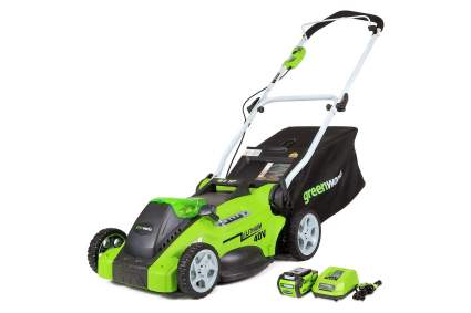 Greenworks G-MAX 16-Inch 40V Cordless Electric Lawn Mower